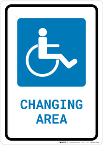 ADA Accessible Changing Area with Icon Portrait - Wall Sign
