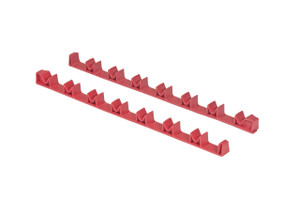 14 Tool No-Slip Low-Profile Screwdriver Rail Set - Red