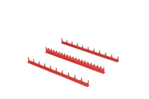 20 Tool Screwdriver Rail Set  w/Mag Tape - Red