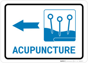 Acupuncture Left Arrow with Icon Landscape v2 - Wall Sign