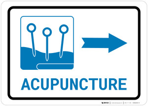 Acupuncture Right Arrow with Icon Landscape v2 - Wall Sign
