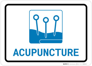 Acupuncture with Icon Landscape v2 - Wall Sign