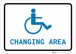 ADA Accessible Changing Area with Icon Landscape v2 - Wall Sign