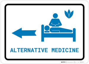 Alternative Medicine Left Arrow with Icon Landscape v2 - Wall Sign