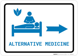 Alternative Medicine Right Arrow with Icon Landscape v2 - Wall Sign