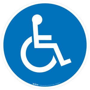Handicap Colored  - Floor Sign