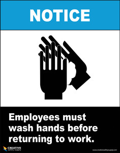 Must Wash Hands - Poster