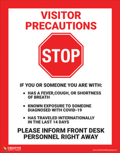 Visitor Precautions - Poster