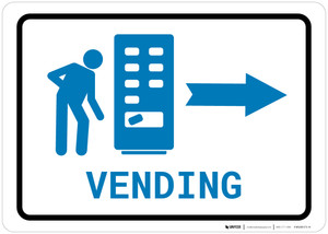 Vending Machine Right Arrow with Icon Landscape v2 - Wall Sign