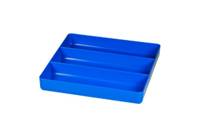 "10.5 x 10.5"" 3 compartment Organizer Tray - Blue"