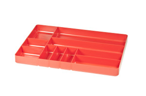"11 x 16"" 10 compartment Organizer Tray - Red"