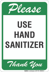 Please Use Hand Sanitizer - Wall Sign