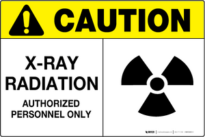 X-Ray Radiation - Wall Sign