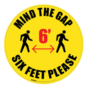 Mind the Gap - Floor Sign