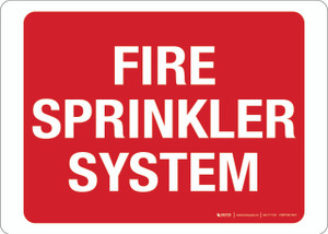 Fire Sprinkler System - Wall Sign