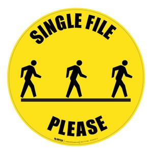 Single File Please - Floor Sign