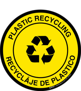 Plastic Recycling (Bilingual) -  Floor Sign