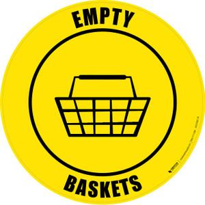 Empty Baskets -  Floor Sign