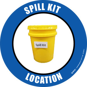 Spill Kit Location -  Floor Sign