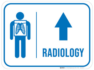 Radiology Straight Ahead Arrow with Icon Rectangular - Floor Sign