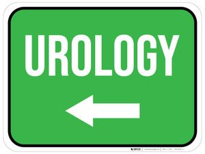 Urology Arrow Left Rectangular - Floor Sign