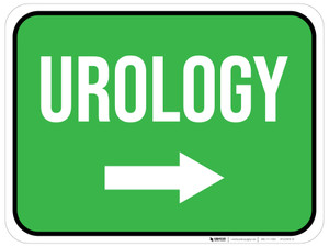 Urology Arrow Right Rectangular - Floor Sign