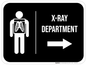 X-Ray Department Arrow Right Rectangular - Floor Sign