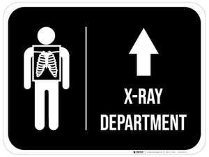 X-Ray Department Arrow Straight Rectangular - Floor Sign