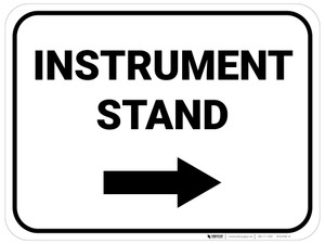 Instrument Stand Arrow Right Rectangular - Floor Sign