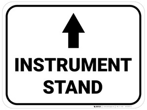 Instrument Stand Arrow Straight Rectangular - Floor Sign