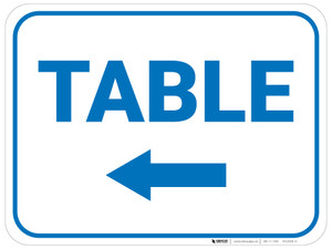 Table Arrow Left Rectangular - Floor Sign