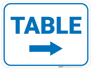 Table Arrow Right Rectangular - Floor Sign