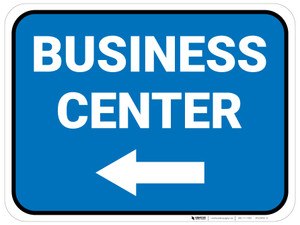 Business Center Arrow Left Rectangular - Floor Sign