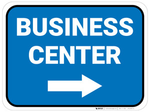 Business Center Arrow Right Rectangular - Floor Sign