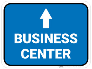 Business Center Arrow Straight Rectangular - Floor Sign