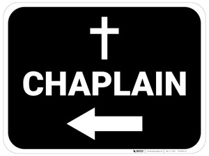 Chaplain Arrow Left Rectangular - Floor Sign