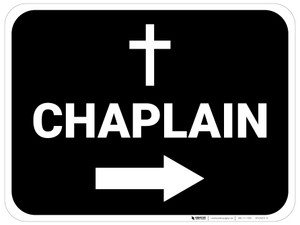 Chaplain Arrow Right Rectangular - Floor Sign