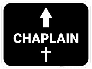 Chaplain Arrow Straight Rectangular - Floor Sign