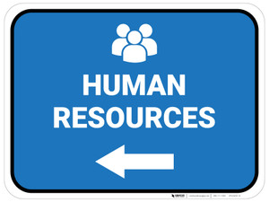 Human Resources Arrow Left Rectangular - Floor Sign