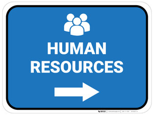 Human Resources Arrow Right Rectangular - Floor Sign
