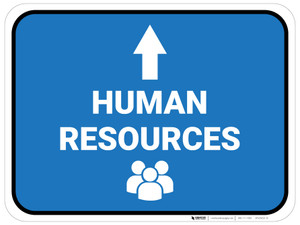 Human Resources Arrow Straight Rectangular - Floor Sign