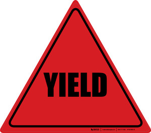 Yield (Red/Black) - Floor Sign
