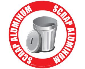 Scrap Aluminum - Floor Sign