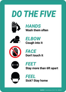 Do The Five Individual Graphics - Wall Sign