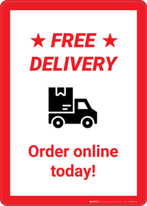 Free Delivery: Order Online Today! - Wall Sign