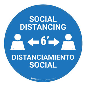 Social Distancing - Bilingual - Floor Sign