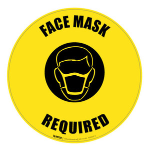 Face Mask Required - Floor Sign