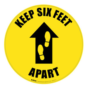 Keep Six Feet Apart - Floor Sign