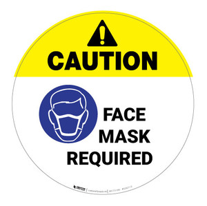 Caution - Face Mask Required - Floor Sign