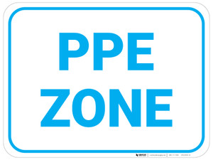 PPE Zone - Blue - Floor Sign